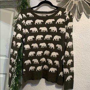 Bass animal print sweater